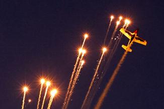 Feuerwerk und Flushow beim Hessentag 2010