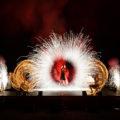 Ultraheiße Feuershow Mystique der Ladies of Fire