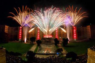 Feuerwerk zum 100-jährigen Jubiläum der Goethe-Universität Frankfurt