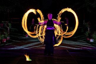 Feuershow beim Churfürstlichen Hofball