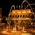 Wasserspiele im Hotel Colosseo