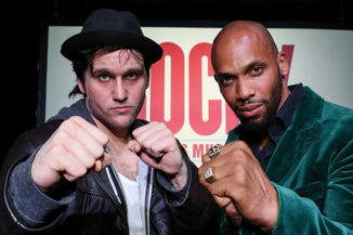 Nikolas Heiber als Rocky Balboa und Gino Emnes als Apollo Creed - Musical ROCKY