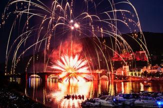 Feuerwerk Heidelberger Schlossbeleuchtung 2015