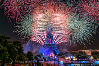 Fireworks Eiffel Tower 2016 National Day