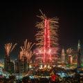 Fireworks New Years Eve 2017 Burj Khalifa Dubai