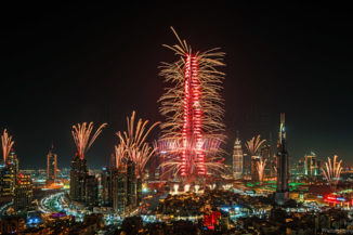 Fireworks New Years Eve 2017 Burj Khalifa Dubai
