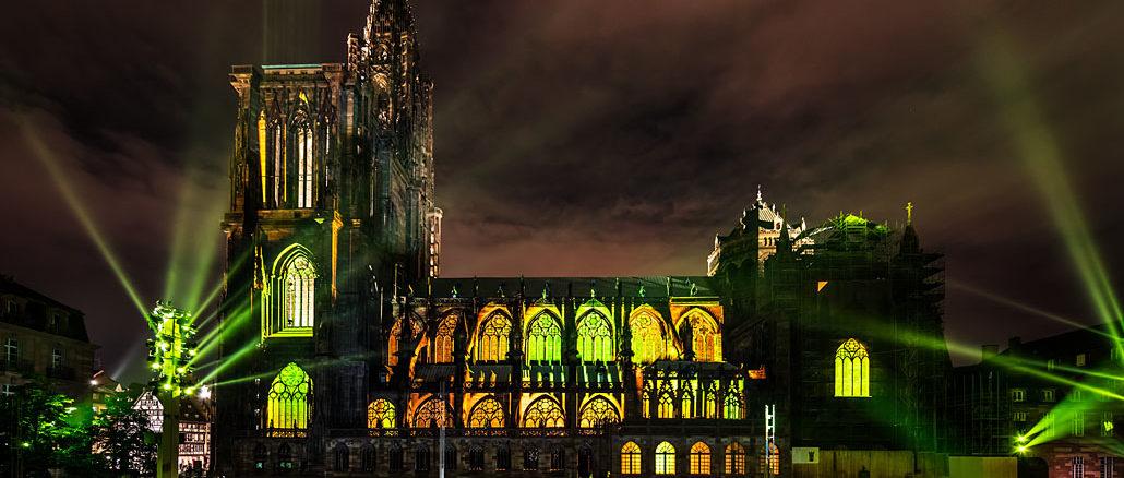 Lichtshow Strassburg Muenster