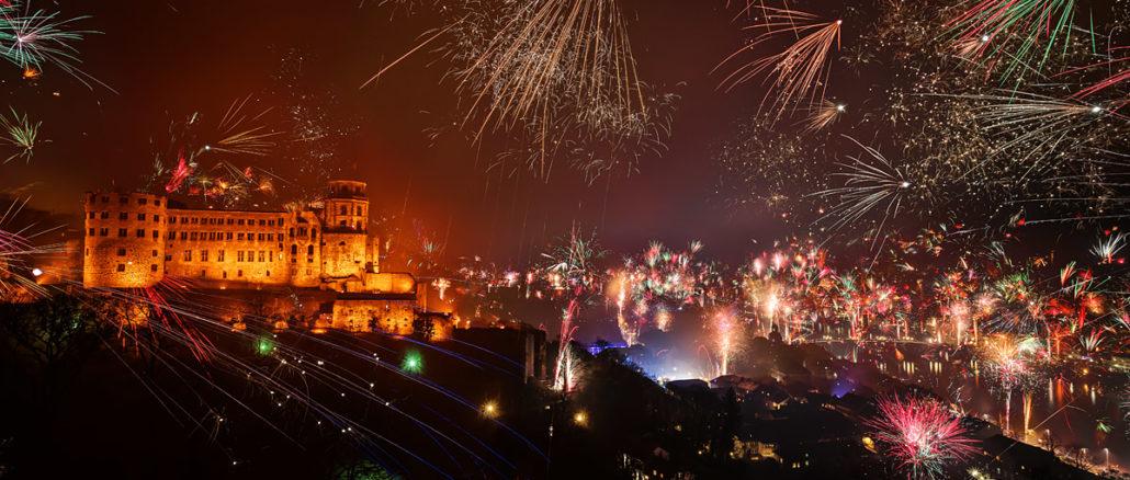 Silvesterfeuerwerk Heidelberg 2018 - 2019