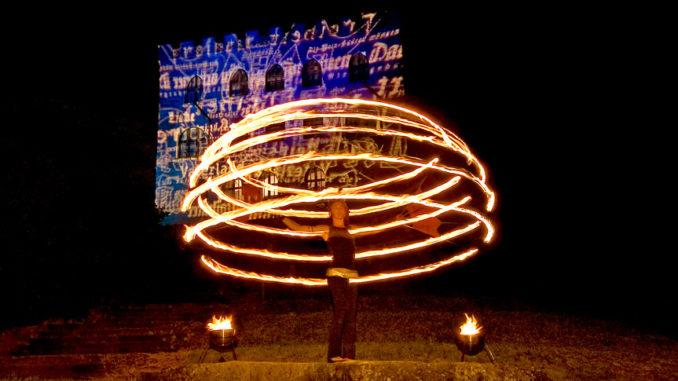 175 Jahre Hambacher Fest Feuershow