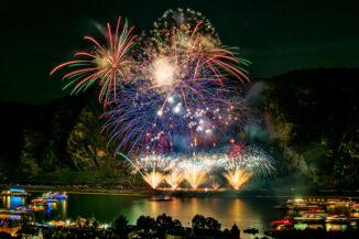 Feuerwerk bei Rhein in Flammen