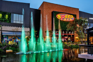 Wasserspiele Shopping Promenade Coeur Alsace