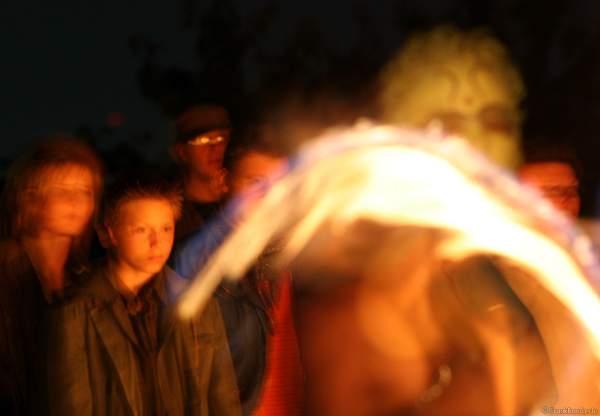 Feuershow mit den firedancer bei der Extraschicht 2007