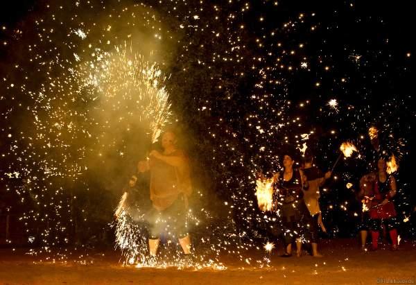 Feuer- und Pyroshow am 20. Juli 2007 in der Arena bei der Kaltenberger Gauklernacht