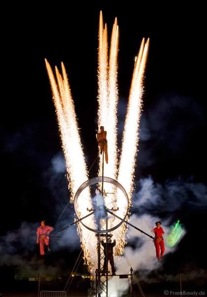 Theater PAN.OPTIKUM zeigt das Finale ihres Stückes Ballgefühl bei der Kulturbörse Freiburg 2008