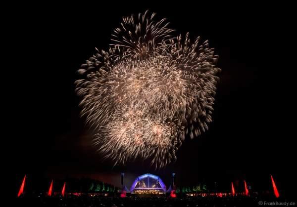 Feuerwerk bei Schloss in Flammen 2008 beim Mannheimer Mozartsommer in Schwetzingen
