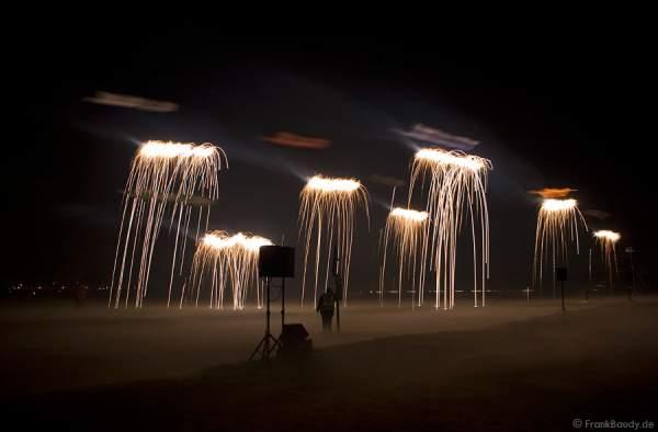 Nachtflugprogramm beim Drachenfest Rodgau 2008