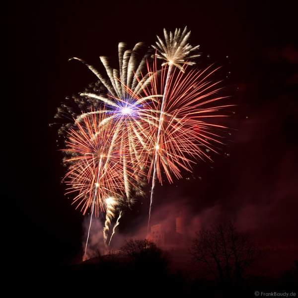 Feuerwerk zum Abschluss des Mathaisemarkt in Schriesheim 2009