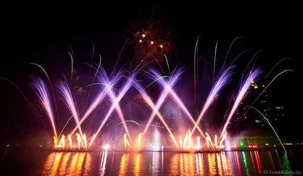 Multimediashow mit Feuerwerk - Turnfest 2009 - FlussFestMeile Frankfurt