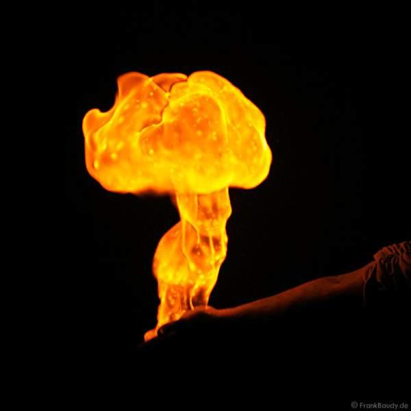Gasexplosion in der Hand