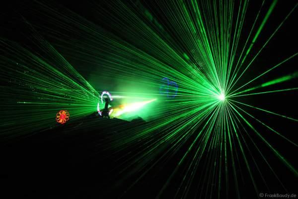 Lasereffekte bei Felsenmeer in Flammen 2010