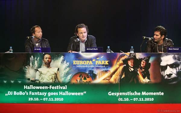 Halloween Presskonferenz im Europapark mit den Künstlern Mark Terenzi und DJ Bobo
