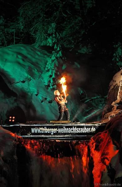 Triberger Weihnachtszauber 2010 Feuershow Hannes Schwarz