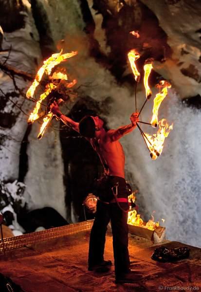 Triberger Weihnachtszauber 2010 Feuershow Chris Sainte-Rose