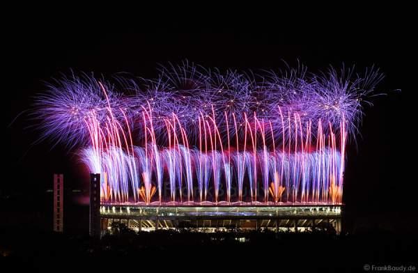 Feuerwerk bei FIFA Frauen-WM 2011 - Finale USA gegen Japan
