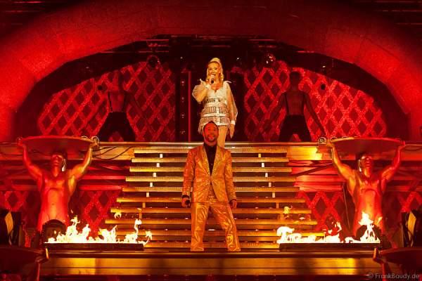 Feuereffekte bei Dancing Las Vegas von DJ Bobo – Weltpremiere