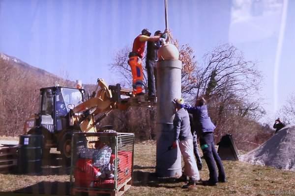 Die 600mm Bombe des RCO wird geladen - Oensingen 2012