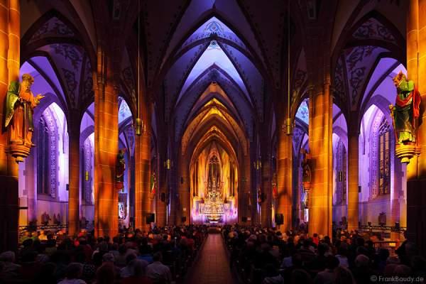 Glaubensfeuer Kirche St. Aposteln Viernheim-Katholikentag 2012