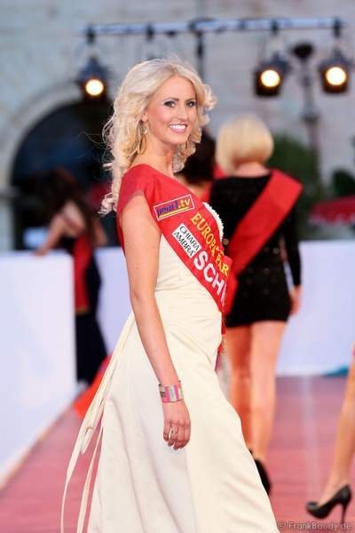 Johanna Persson bei der Miss EM 2012 Wahl im Europa-Park