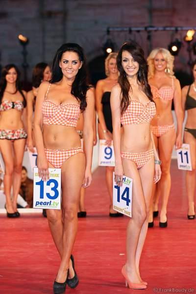 Samantha Woolley und Silvi Borges Reis bei der Miss EM 2012 Wahl im Europa-Park