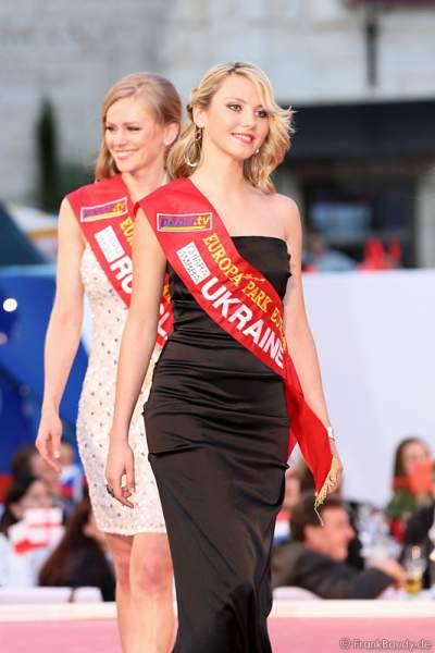 Oksana Kuzmenko bei der Miss EM 2012 Wahl im Europa-Park