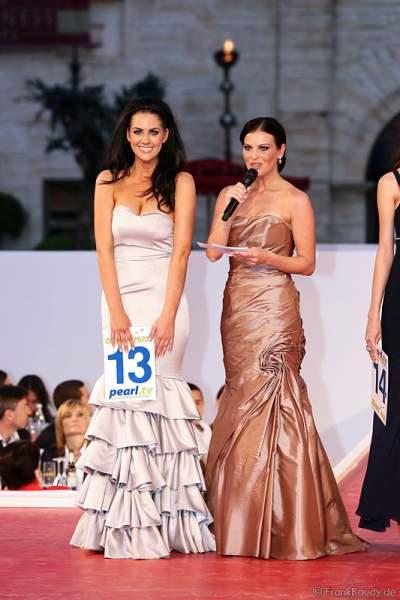 Samantha Woolley und Alexandra Philipps, Miss Germany 1999 bei der Miss EM 2012 Wahl im Europa-Park