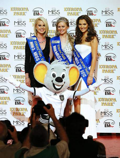 Die Siegerinnen Mareen Wehner - 3. Miss EM 2012, Natalia Prokopenko - Miss EM 2012, Lucie Klukavá - Vize-Miss EM 2012