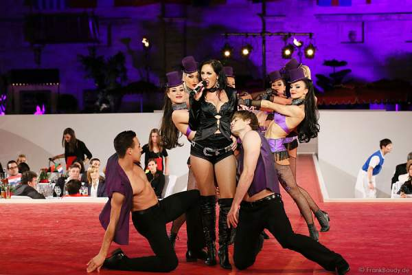 Künstler des Europa-Park bei der Miss EM Wahl 2012