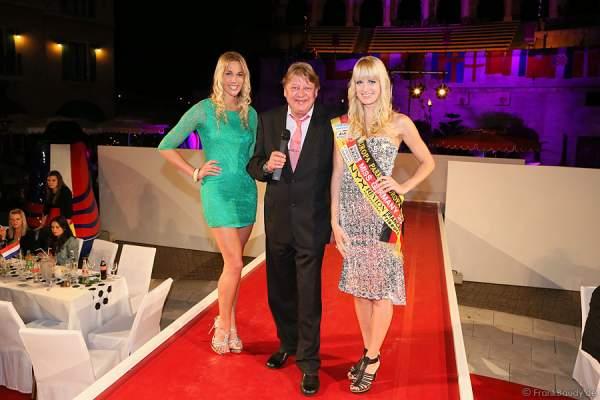 Walter Freiwald und Miss Germany 2011 - Anne-Kathrin Kosch bei der Miss EM 2012 Wahl