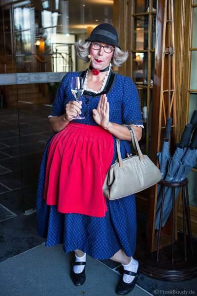 Hansy Vogt alias Frau Wäber  bei der Eröffnung des neuen 4-Sterne Superior Hotels Bell Rock im Europa-Park am 12. Juli 2012