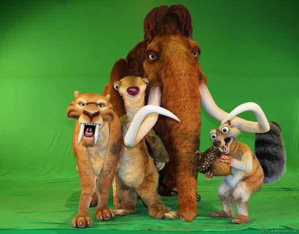 Sid, Manni, Scrat und Diego