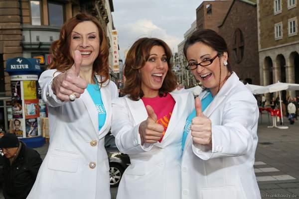 Die 3 Dynamos Betty Vermeulen (Tanja), Sabine Mayer (Donna) und Barbara Raunegger (Rosie) v.l.n.r.