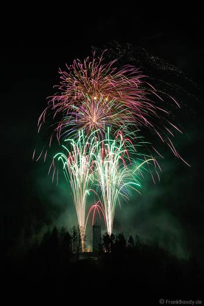Feuerwerk beim Triberger Weihnachtszauber