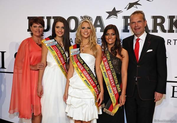 Die Gewinnerinnen der Miss Germany 2013 Wahl mit Ines Klemmer