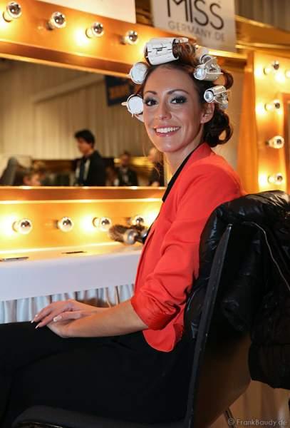 Die Teilnehmerinnen der Miss Germany 2013 bei den Vorbereitungen - Backstage