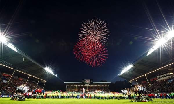 Feuerwerk beim Finale der Stadiongala Turnfest 2013 Mannheim