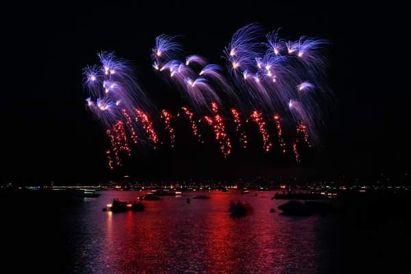 Feuerwerk beim Züri Fäscht 2013
