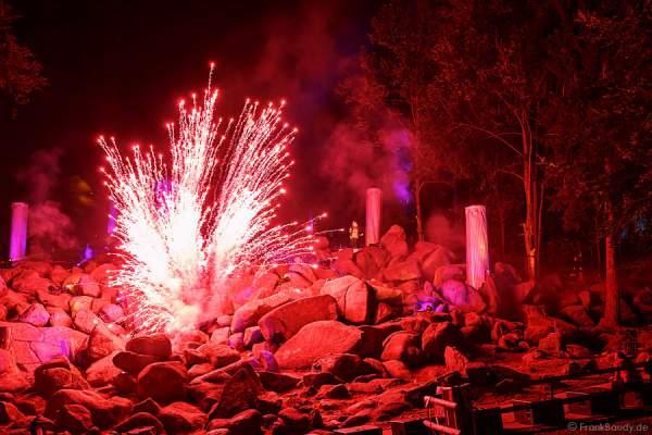 Feuerwerk bei Felsenmeer in Flammen 2013