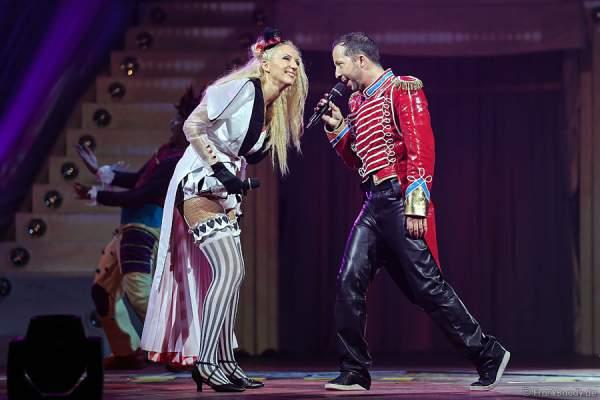 Nancy Baumann und René Baumann alias DJ BoBo bei der Weltpremiere der Show CIRCUS