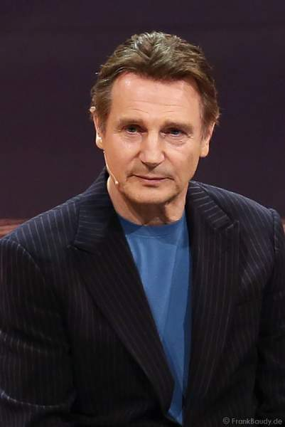 Liam Neeson bei Wetten, dass..? am 25. Januar 2014 in Karlsruhe