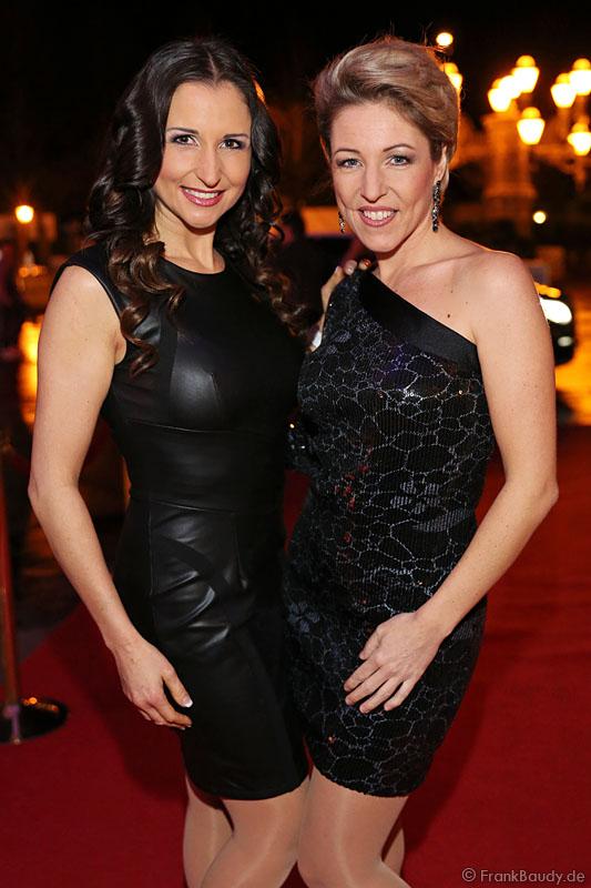 Alexandra Hofmann und Anita Hofmann von Anita & Alexandra Hofmann (vormals: Geschwister Hofmann) beim Miss Germany 2014 Finale ...